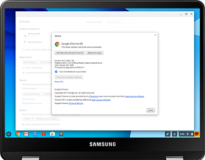Update the Chrome OS on Your Chromebook Pro
