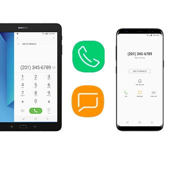 Make and Answer Calls and Text Messages from Your Galaxy