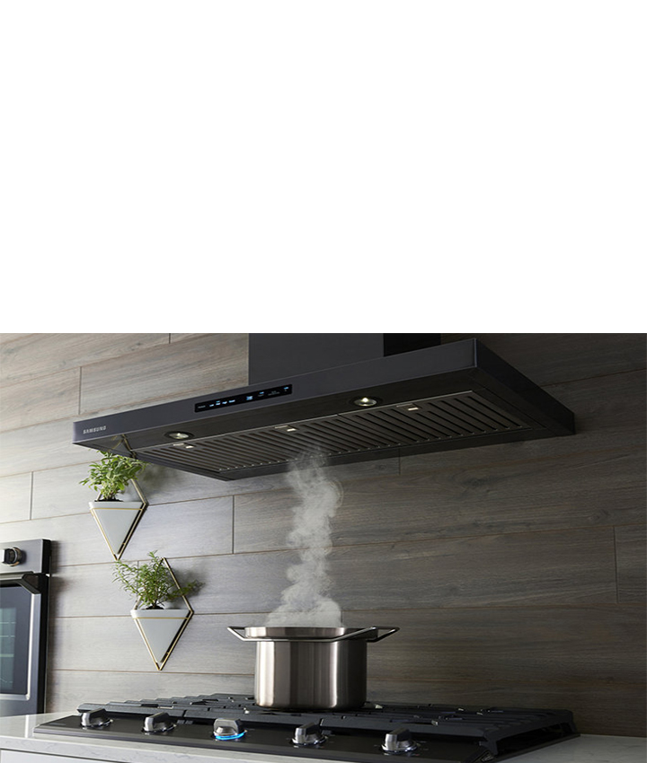 Find your cooktop and hood.
