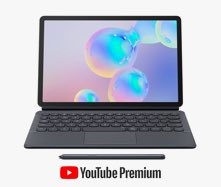 4 months of free YouTube Premium with the Galaxy Tab S6*