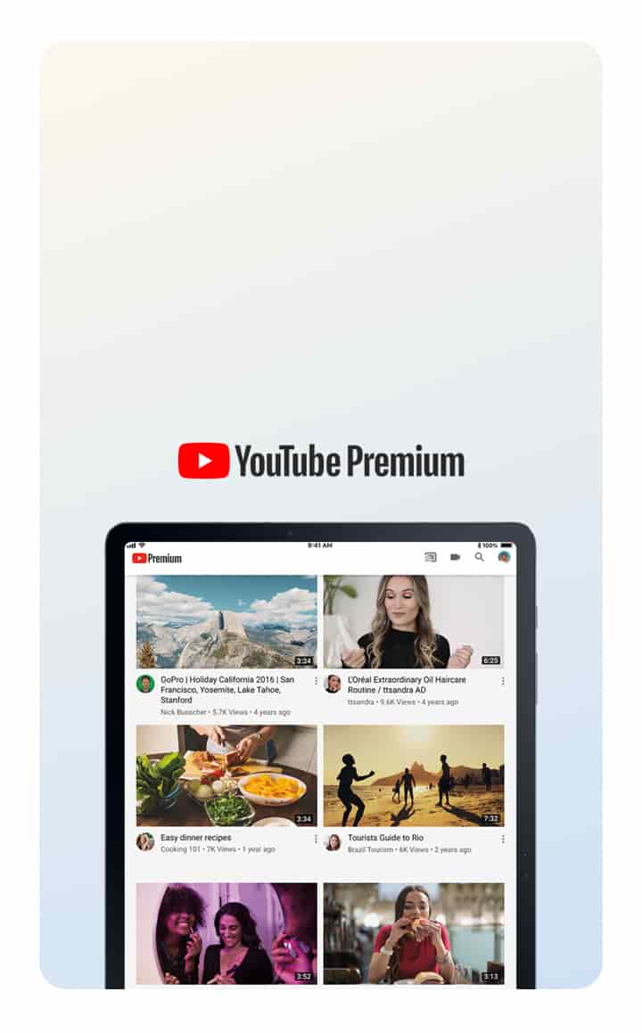 Ad-free YouTube included.11