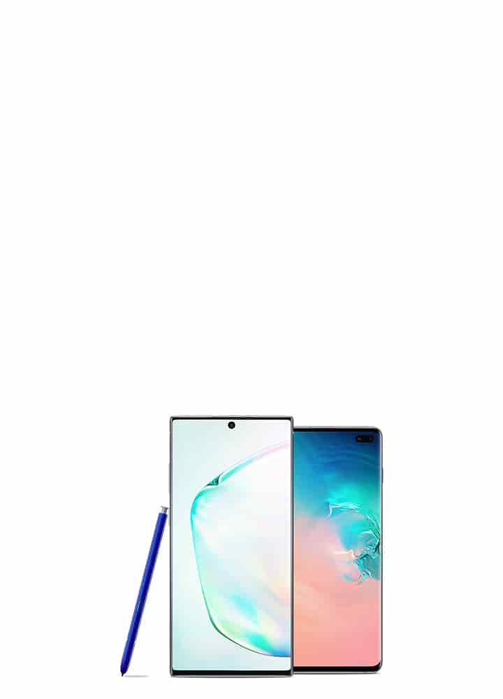 Save up to $600 on a Galaxy Note10 or S10 with eligible trade-in.