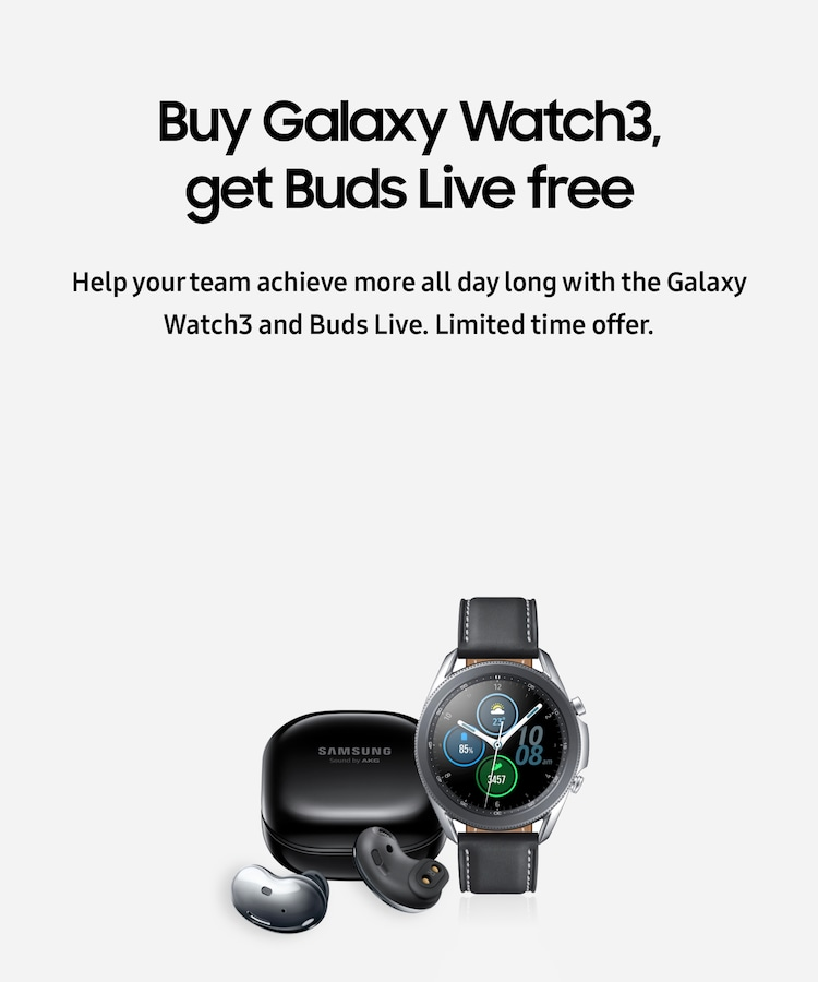 Buy Galaxy Watch3, get Buds Live free