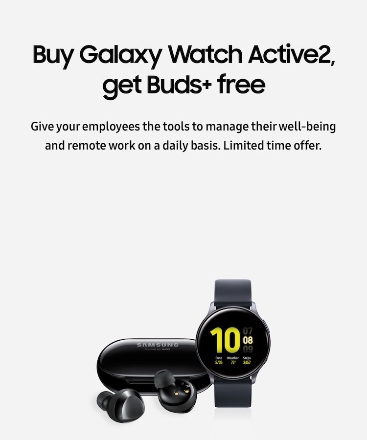 Buy Galaxy Watch Active2, get Buds+ free
