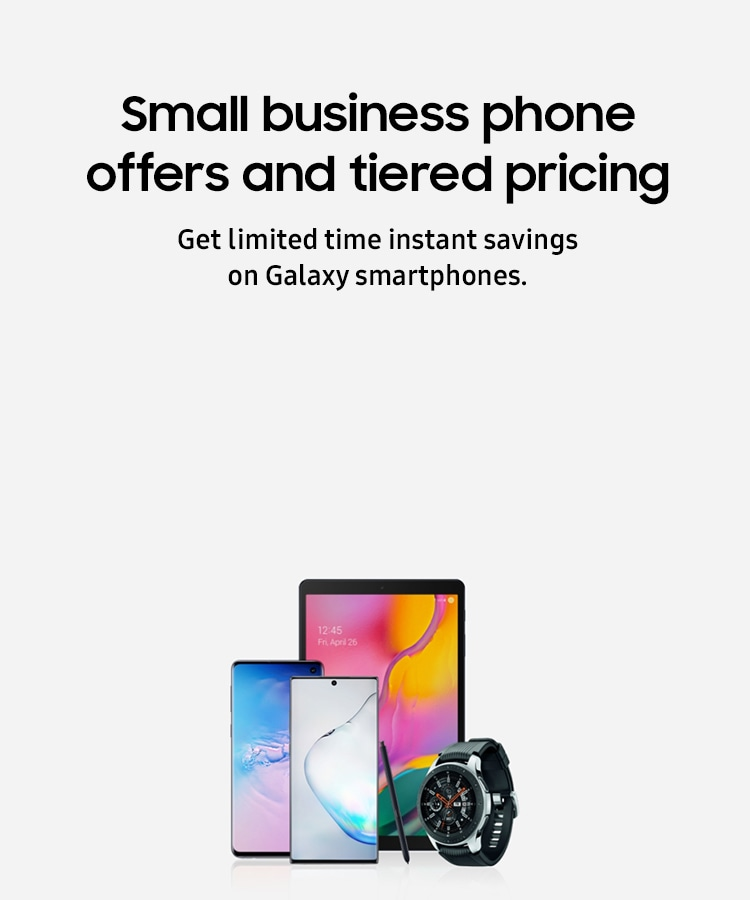 Small business phone offers and tiered pricing