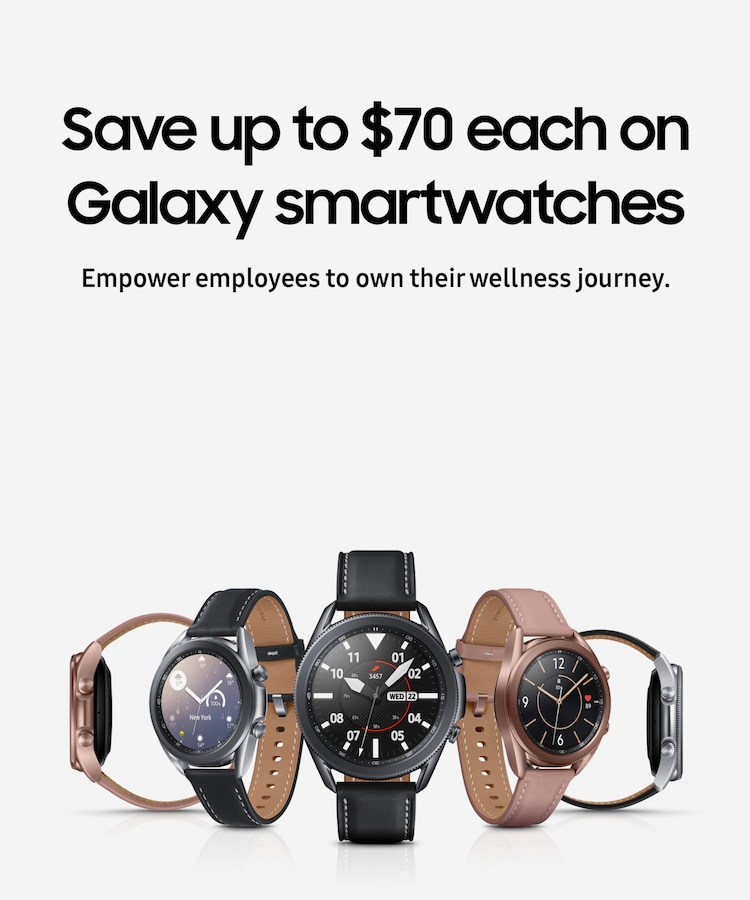 Save up to $70 each on Galaxy smartwatches