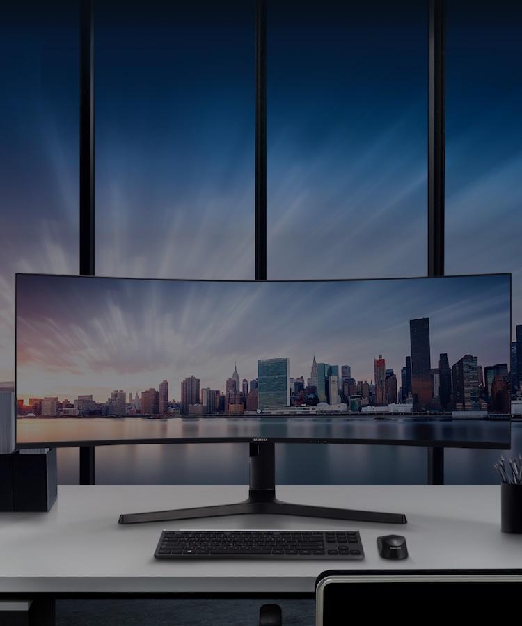 Samsung CJ890 Series super ultra-wide curved monitor