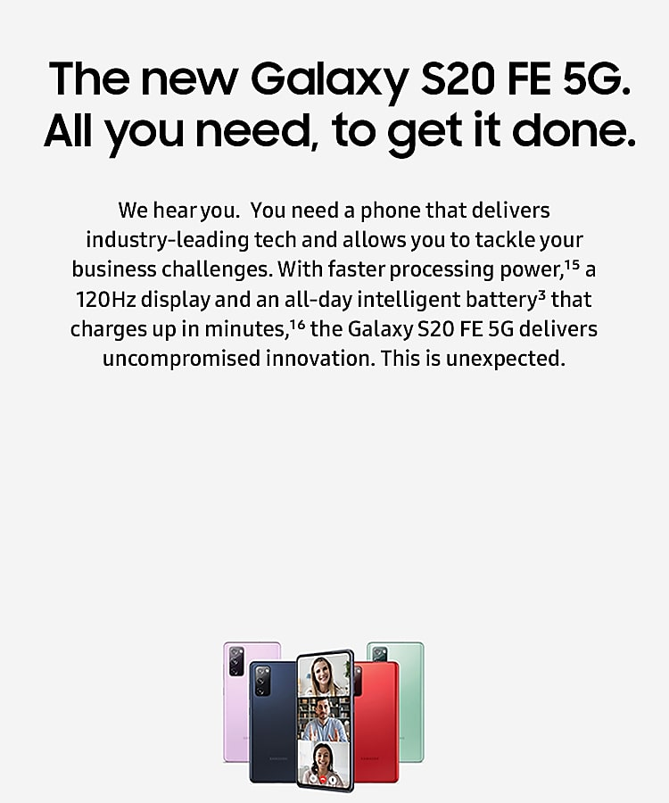 Galaxy S20 FE 5G for business