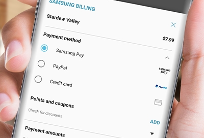 Use Samsung Pay To Check Out In Galaxy Store
