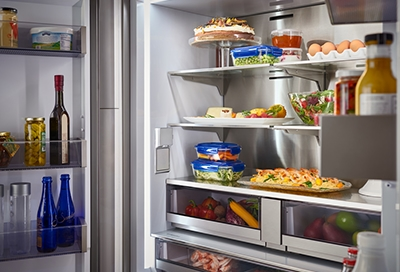 Remove or Replace Refrigerator Bins and Drawers on kitchenaid refrigerator leaking water, kitchenaid french door refrigerator leaking, kitchenaid refrigerator freezer leaking, kitchenaid kfcs22evms water leaking,