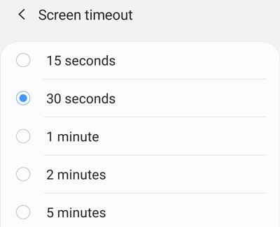 Screen Turns Off While Using Phone or Tablet