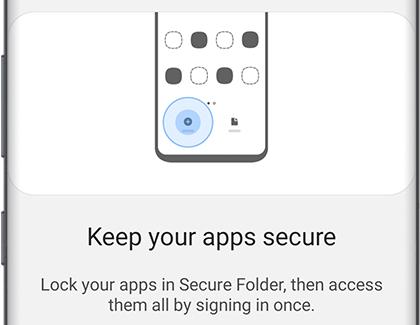 Secure Folder Home page