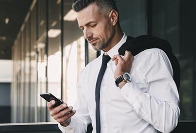 Business man using phone