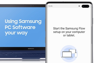 Transfer files between the PC or tablet and Galaxy phone