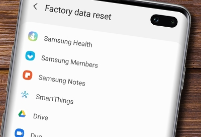Perform a factory reset on your Galaxy phone