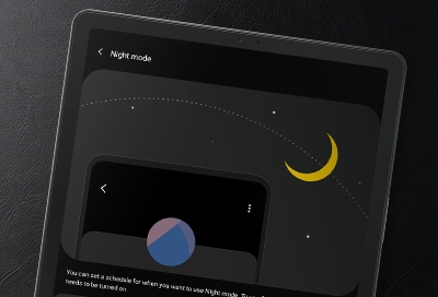 Night mode on your Galaxy tablet