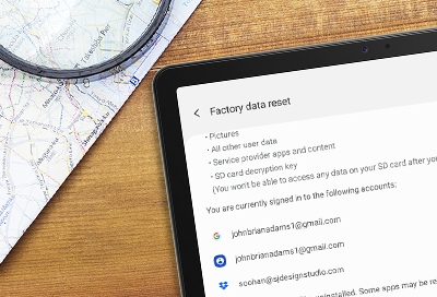 Perform a factory data reset on your tablet