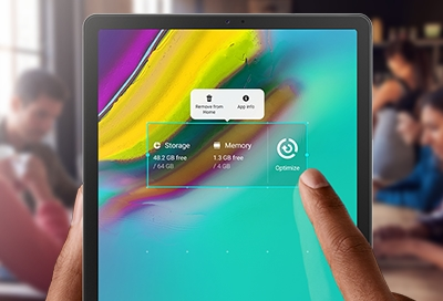 Customize the Home screens on your tablet