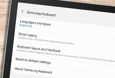 Keyboards on your Galaxy tablet
