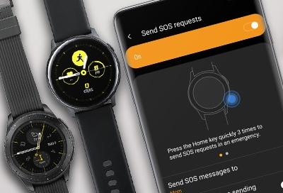 Set up and use SOS mode on your Samsung smart watch