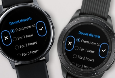 Use the different silent modes on your Samsung smart watch