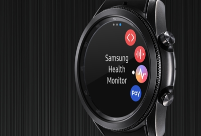 Galaxy Watch3 with Samsung Health Monitor app installed