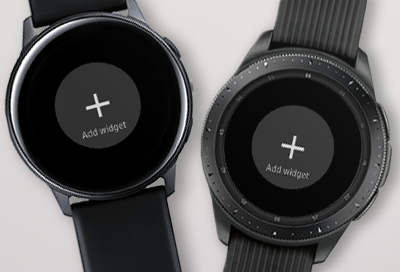 Manage widgets on your Samsung smart watch