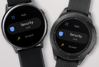 Set a Security Lock on your Samsung smart watch