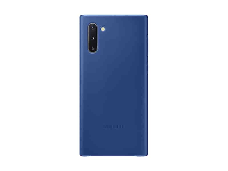 Galaxy Note10 Leather Back Cover, Blue