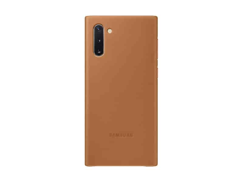 Galaxy Note10 Leather Back Cover, Tan