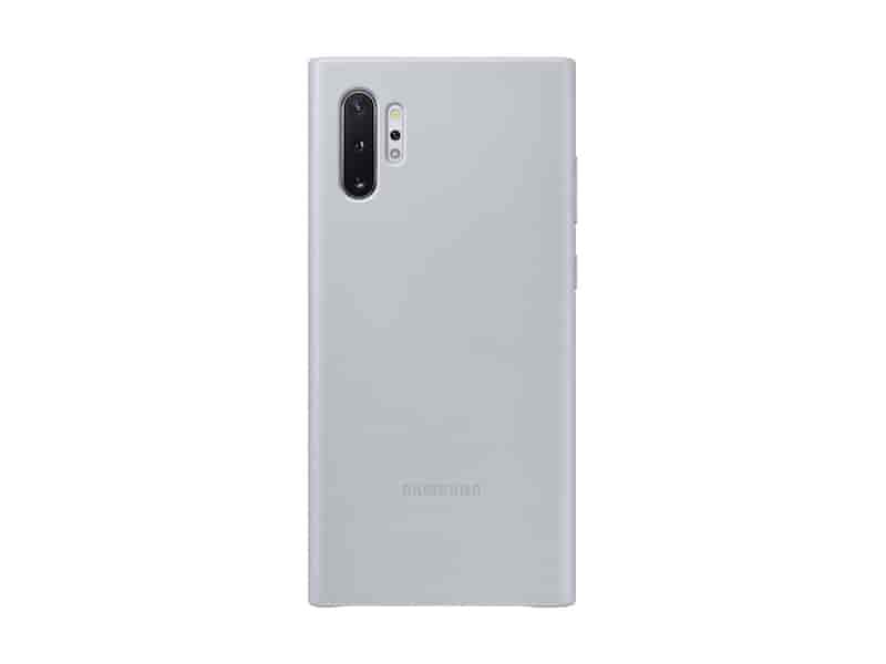 Galaxy Note10+ Leather Back Cover, Silver