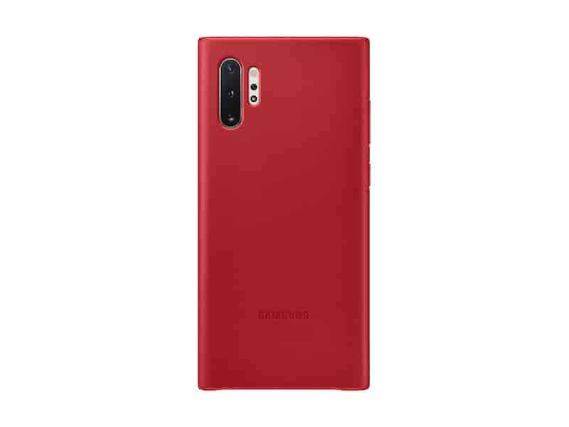 Galaxy Note10+ Leather Back Cover, Red