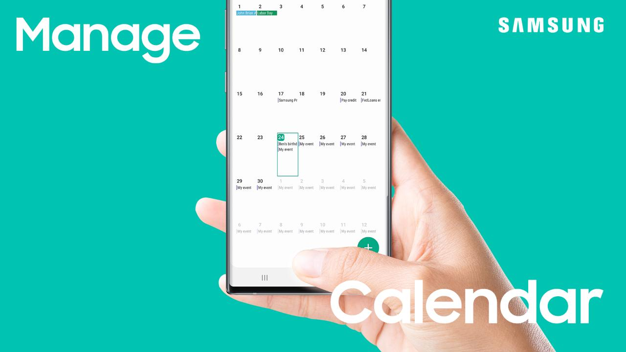 Use the Calendar app on your Galaxy phone