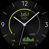 Active Rhythm watch face in lime