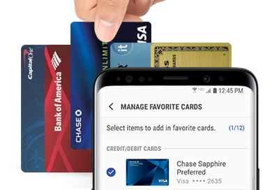Manage Favorite Cards with Samsung Pay