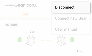 Connect Gear IconX to a Phone
