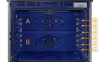 Picture demonstrating rack positions. They are numbered 1-6 starting at the bottom.