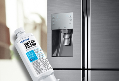 Replace the water filter in your refrigerator