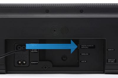 Connect a soundbar to your TV