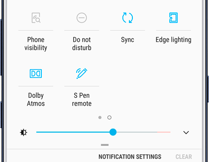 S Pen remote settings on Quick Settings panel