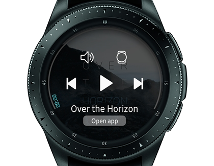 Control the music player on your watch