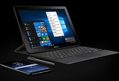 Samsung Flow features on tablet and laptop