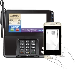 Phone placement for payment terminals