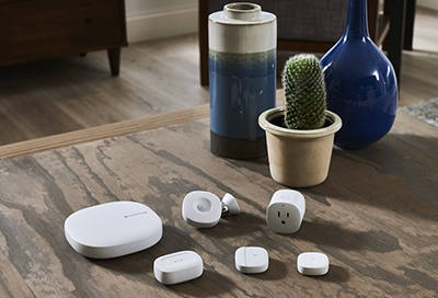 Smartthings devices on a table