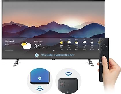 Control the TV using Bixby, Google Home, or Alexa