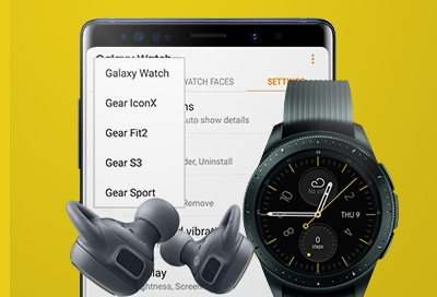 Switch Between Devices in Galaxy Wearable App