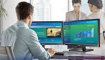 Multiple Monitors Help Employees Get More Done