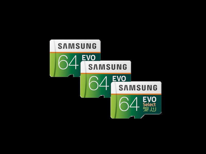 EVO Select microSDXC Memory Card 64GB - 3 Pack