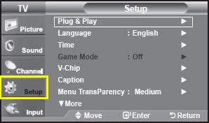 Use The Or On To Select Either Setup Function And Then Press Enter Selection Bar Will Move Into Menu