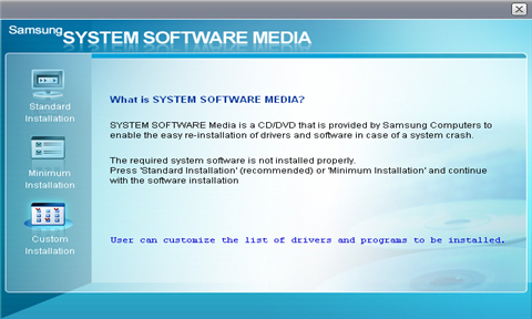 How to install the system software media dvd (drivers and programs).